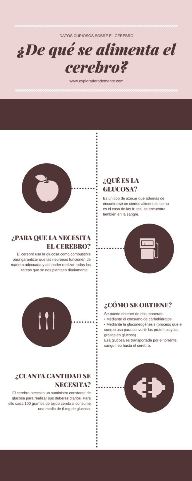 Infografia DE QUE SE ALIMENTA EL CEREBRO
